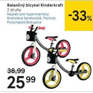 Balančný bicykel Kinderkraft