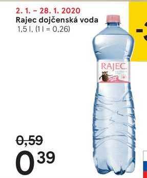 Rajec dojčenská voda, 1,5 l