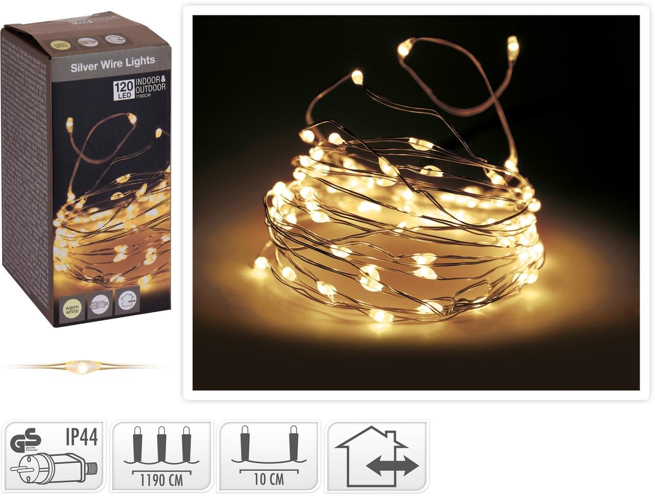 Drôtik 120 LED žlté svetlo 1 ks