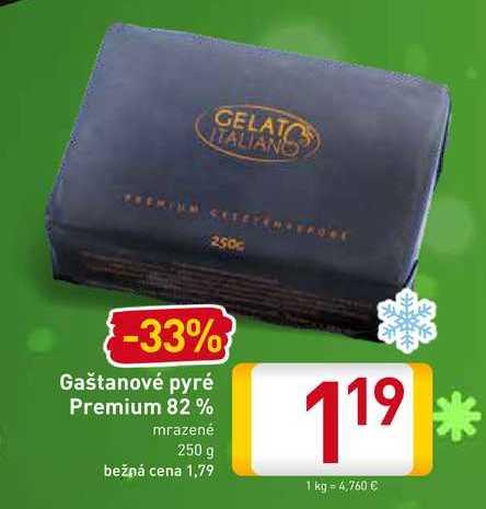 Gaštanové pyré Premium 82% 250 g