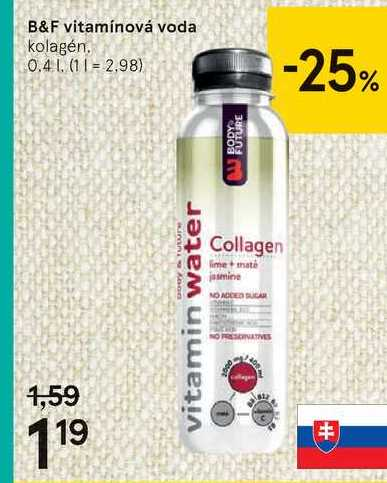 B&F vitamínová voda, 0,4 l