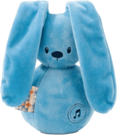 Hudobná hračka modrý zajačik, 1 ks