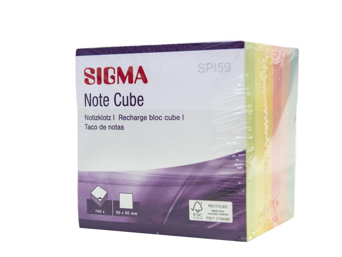Bloček box 9 cm 700 listov Sigma 1 ks