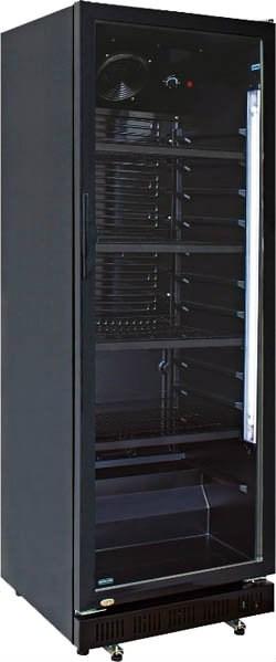 Chladnička vitrína HSC 360 G čierna 1ks