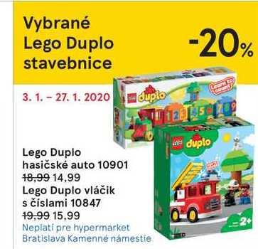 Lego Duplo hasičské auto 10901
