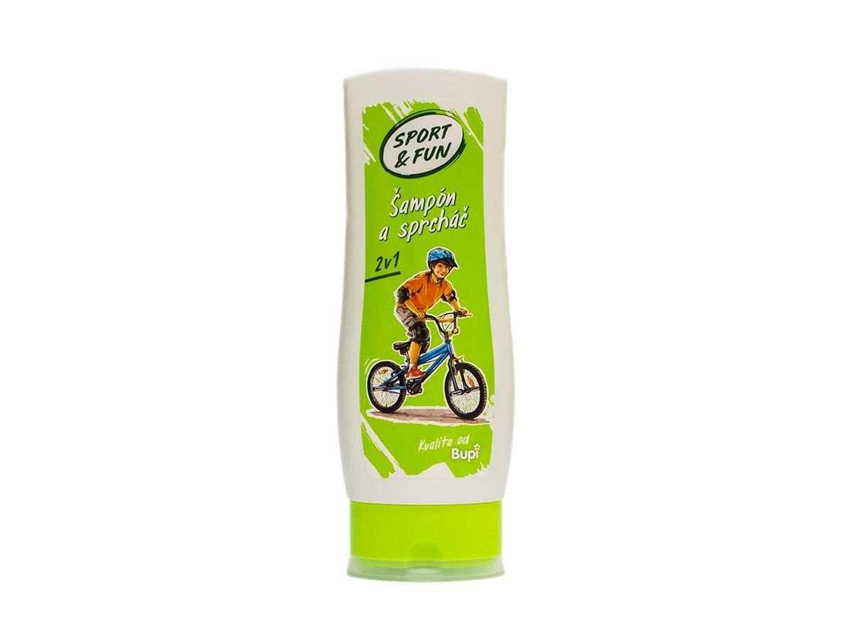 Bupi Sport&Fun Sprchový gél a šampón 1x200 ml