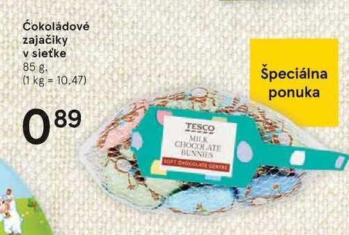 Čokoládové zajačiky v sieťke, 85 g