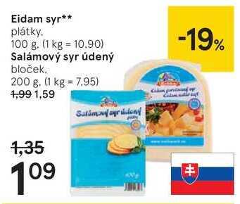Salámový syr údený, 200 g