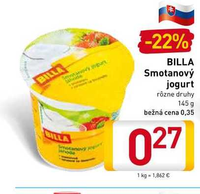 Smotanový jogurt 145 g