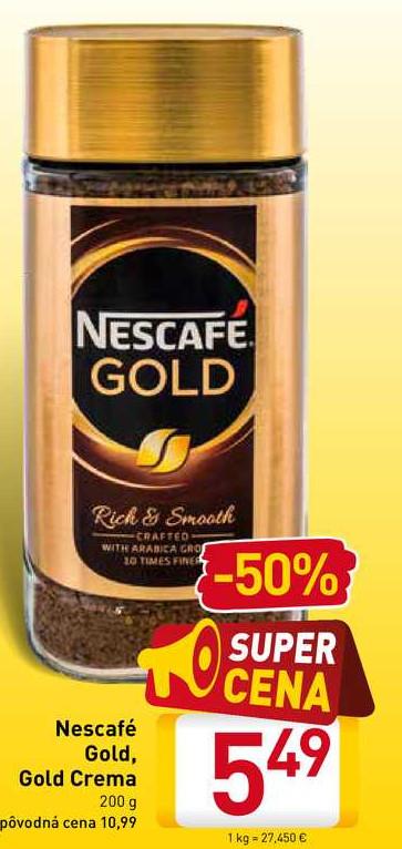 Nescafé Gold, Gold Crema 200 g