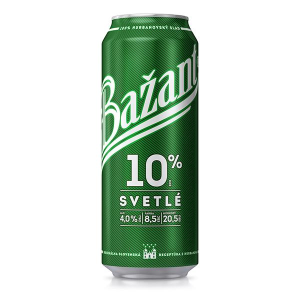 ZLATÝ BAŽANT 10% plechovka 0,5l