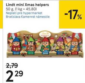 Lindt mini Xmas helpers, 50 g