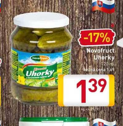 Novofruct Uhorky  720 ml