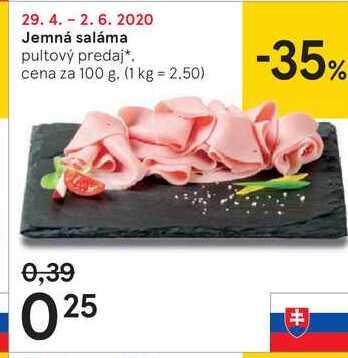 Jemná saláma, 100 g
