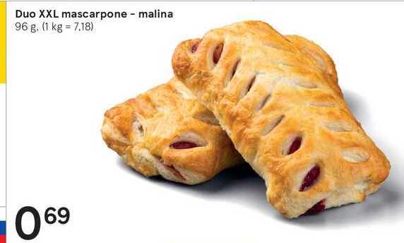 Duo XXL mascarpone - malina, 96 g