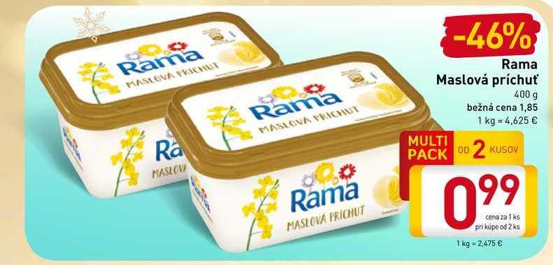 Rama Maslová príchuť 400 g