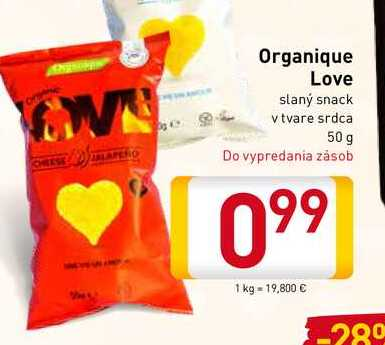 Organique Love slaný snack 50 g