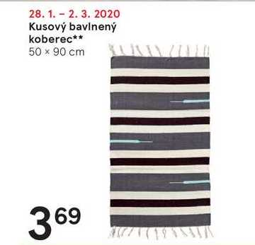 Kusový bavlnený koberec