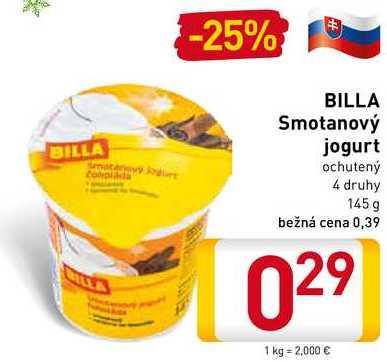 Billa Smotanový jogurt 145 g