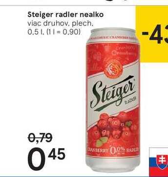 Steiger radler nealko, 0,5 l