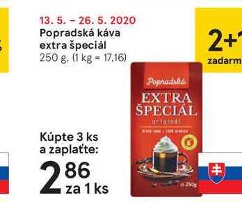 Popradská káva extra špeciál, 250 g