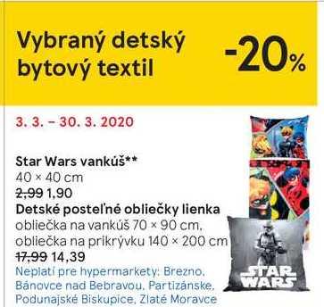Star Wars vankúš