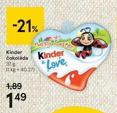 Kinder čokoláda, 37 g