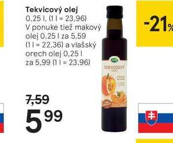Tekvicový olej, 0,25 l