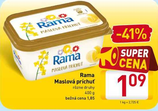 Rama Maslová príchuť 400g