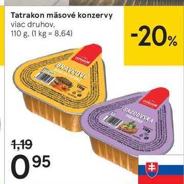 Tatrakon masové konzervy, 110 g