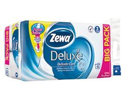 Zewa Deluxe white 3-vrstvový toaletný papier 16 x 19,3m