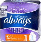 Platinum hygienické vložky Ultra Normal Plus, 8 ks
