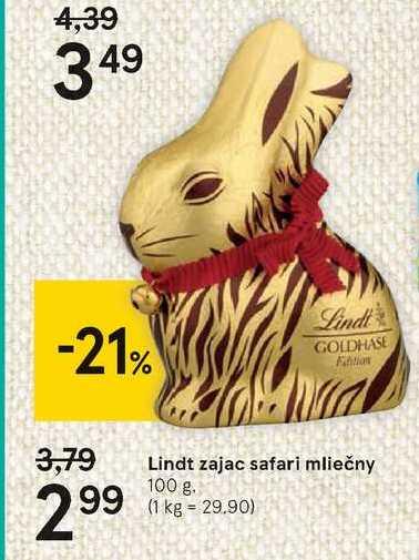 Lindt zajac safari mliečny, 100 g