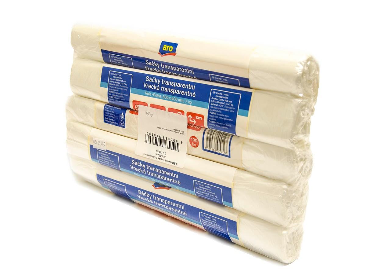 Vrecká potravinové rolka 7kg ARO 5x100ks