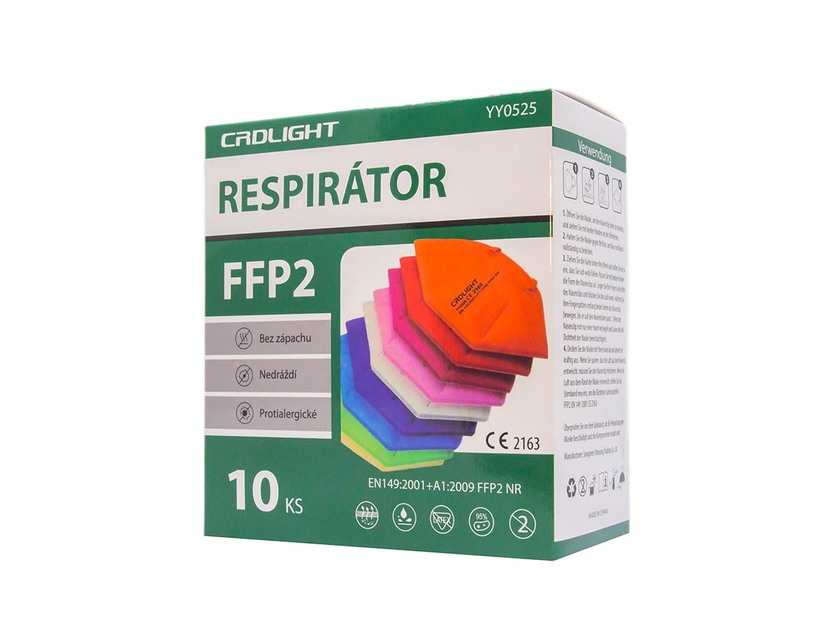 Respirátor FFP2 farebný 1x10 ks