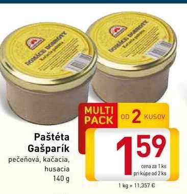 Paštéta Gašparík  140 g