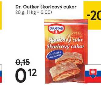 Dr. Oetker škoricový cukor, 70 g
