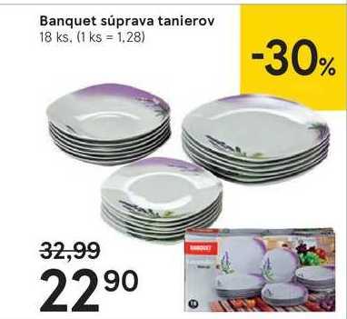 Banquet súprava tanierov