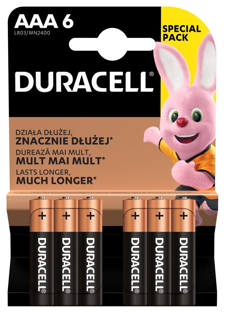 Batérie Basic AAA Duracell 6ks