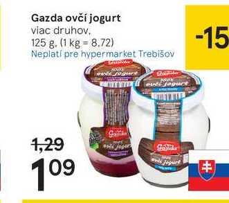 Gazda ovčí jogurt, 125 g