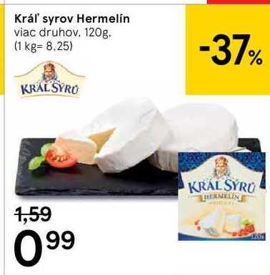 Král' syrov Hermelín, 120 g