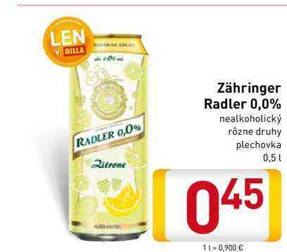 Zähringer Radler 0,5 l