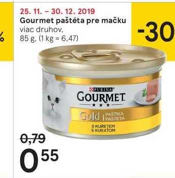 Gourmet paštéta pre mačku, 85 g