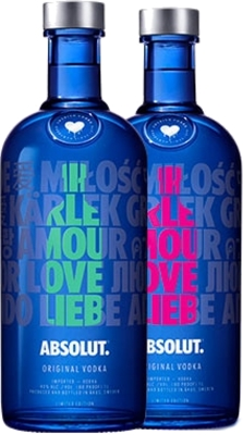 Absolut vodka Drop of Love 40% 1,00 L