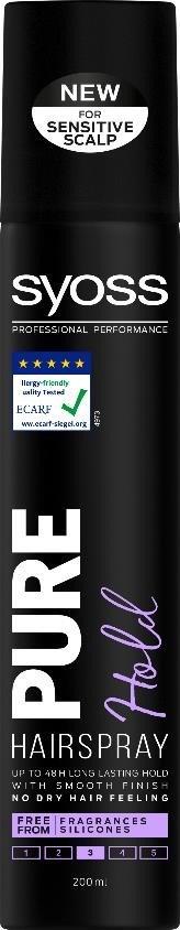 Syoss Pure Hold lak na vlasy 1x200 ml