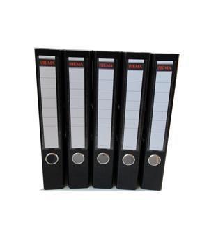 Šanón/zakladač A4/5cm pákový čierny SIGMA 5ks