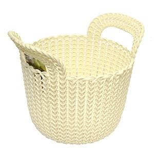 Kôš Knit guľatý biely 3L Curver 1ks