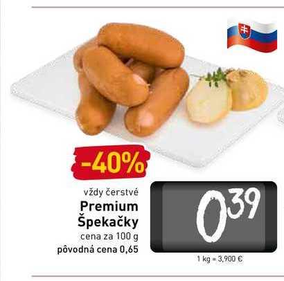 Premium špekáčky 100 g