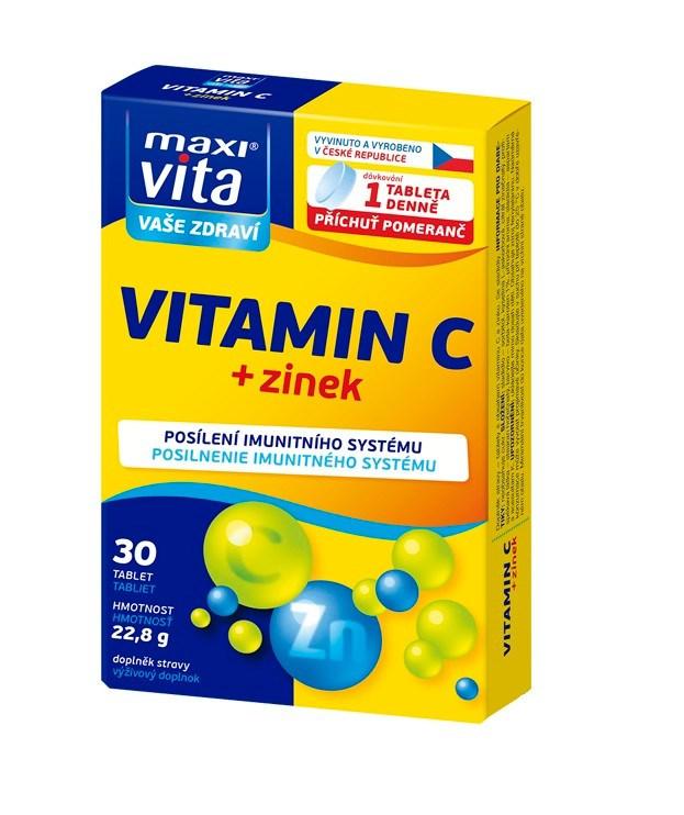 MaxiVita Vitamín C + zinok 1x30 tbl.