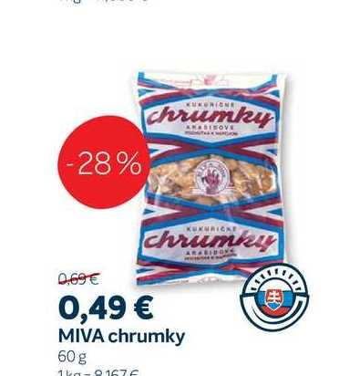 MIVA chrumky, 60 g